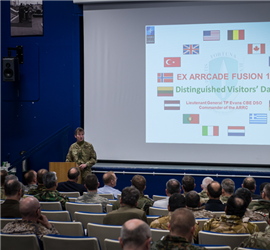 Distinguished Visitors' Day visit to Exercise ARRCADE FUSION 20 Nov 2014