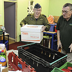 Headquarters support to local food bank