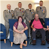 HQ ARRC French Officers present local resident with the Legion d'honneur medal